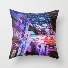 New York City Blade Runner Throw Pillow