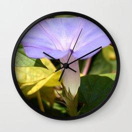 Purple Morning Glory Wall Clock
