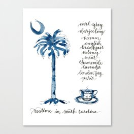 Teatime in South Carolina Canvas Print