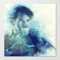 tea Canvas Prints featuring Tea by Anna Dittmann