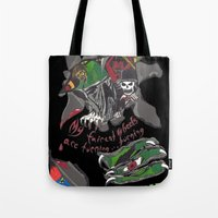 inner demons Tote Bags featuring Inner Demons by Becky Doyon