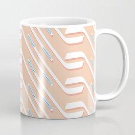 Sticks On Pink Ice #society6 #hockey #sport Coffee Mug