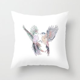 Birds in love tropical bird home decor Throw Pillow