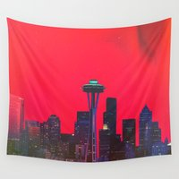 seattle Wall Tapestries featuring Seattle. by Daniel Montero
