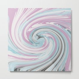 pink and blue rounds Metal Print
