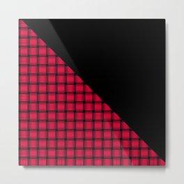 Black and American Rose Weave Pattern Metal Print