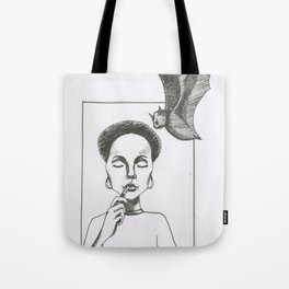 Here Comes The Bat Tote Bag