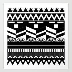 Graphic_Black&white #2 Art Print