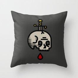 Skull & Dagger Throw Pillow