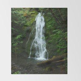 Madison Creek Falls Throw Blanket