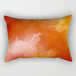 Sunset Glow Abstract Art Rectangular Pillow