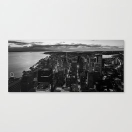 Black and White Seattle - Washington Canvas Print