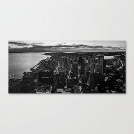 Black and White Seattle - Washington Canvas Print