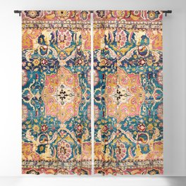 Amritsar Punjab North Indian Rug Print Blackout Curtain