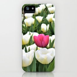 Pink between white iPhone Case