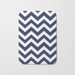 Space cadet - blue color - Zigzag Chevron Pattern Bath Mat