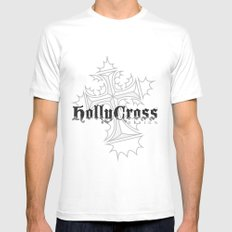 Hollycross Logo MEDIUM White Mens Fitted Tee