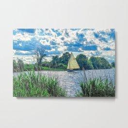 Sailing The River Metal Print
