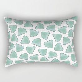 Illuminated Structure: Solo Aventurine Rectangular Pillow