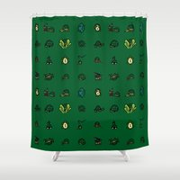ninja turtles Shower Curtains featuring Turtles by AboveOrdinaryArts