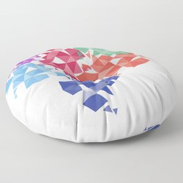 Background of geometric shapes. Colorful mosaic pattern Floor Pillow