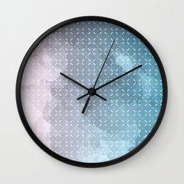 Geometric Aquarelle Wall Clock