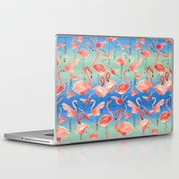 flamingos Laptop & iPad Skins featuring Flamingos  by Ninola
