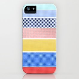 Halftone Stripes iPhone Case