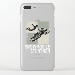 Snowmobile Winter Sports Funny Stuntman Gift Idea Clear iPhone Case