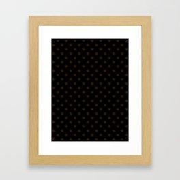 Chocolate Brown on Black Snowflakes Framed Art Print
