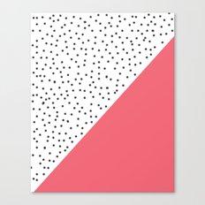 Geometric grey and pink design Canvas Print