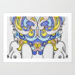 Azure Deuces Art Print