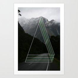 Rainy Road Trip. Art Print