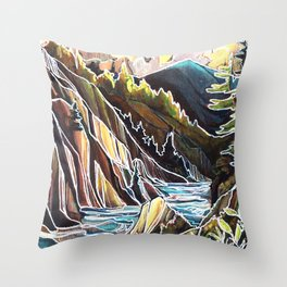 Creek Canyons, British Columbia Throw Pillow