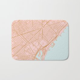 Barcelona map, Spain Bath Mat