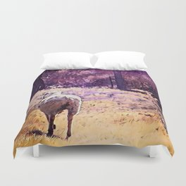 Lamb Frolic with Mama Ewe by CheyAnne Sexton Duvet Cover