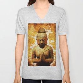 The Praying Buddha Unisex V-Neck
