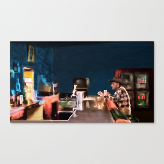 american diner canvas print by digitalandphoto society6