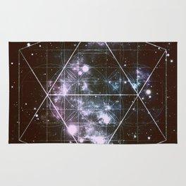 Galaxy Sacred Geometry dark Rug