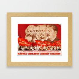 Marx, Engels, Lenin and Stalin, 1953 Propaganda Framed Art Print