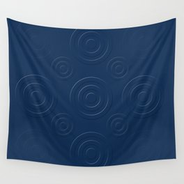 Prussian Blue Bull's Eye Wall Tapestry