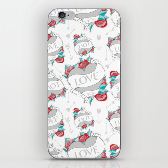 Heart Tattoo pattern iPhone & iPod Skin