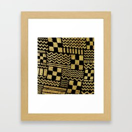 Gold Fuse Framed Art Print