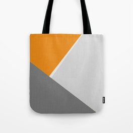 Orange And Gray Tote Bag