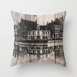 In Bruges, Belgium Throw Pillow