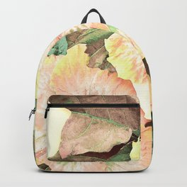 Tropical Botanical Yellow Backpack