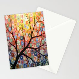 Abstract Art Landscape Original Painting ... Reaching For the Light Stationery Cards