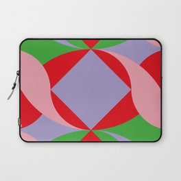 Two red squares and a Squared hole Laptop Sleeve