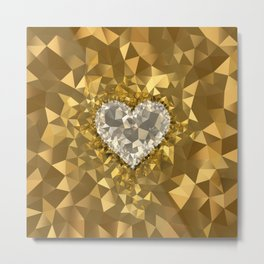 POLYNOID Heart / Gold Edition Metal Print