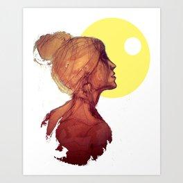 Kiss the Moon - Bacio alla Luna Art Print